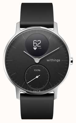 Withings Czarny silikonowy stalowy pasek 36 mm HWA03B-36BLACK-ALL-INTER