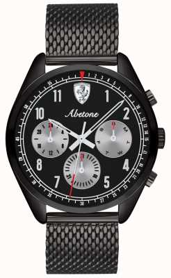 Scuderia Ferrari | męskie abetone | czarna bransoletka z siatki | czarna tarcza | 0830573
