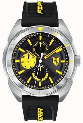 Scuderia Ferrari | mężczyzna forza | czarny gumowy pasek | tarcza czarno-żółta | 0830575