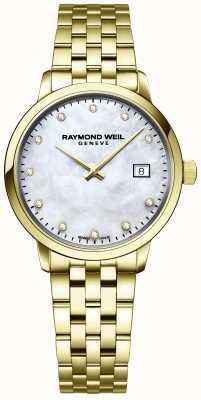 Raymond Weil | damski diament toccata | złota bransoleta ze stali nierdzewnej | 5985-P-97081