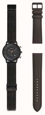Breil | męski zegarek z czarnej siatki stalowej | wymienny pasek | TW1808