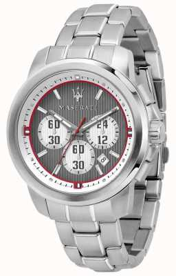 Maserati Szara bransoleta ze stali nierdzewnej z chronografem Royale R8873637003