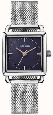 Jack Wills | damski zegarek z siatką ze stali szlachetnej | niebieska tarcza | JW016NVSL