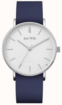 Jack Wills | panie sandhill niebieski pasek silikonowy | JW018WHNV