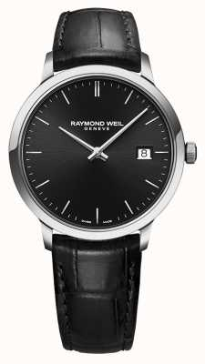 Raymond Weil   czarna toccata czarna skóra   czarna tarcza   5485-STC-20001