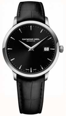 Raymond Weil | czarna toccata czarna skóra | czarna tarcza | 5485-STC-20001