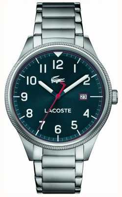 Lacoste | męskie kontynentalne | bransoleta ze stali nierdzewnej | niebieska tarcza | 2011022