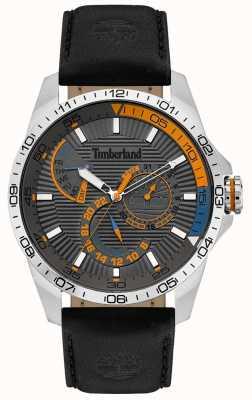 Timberland | zegarek męski Oakham | czarny skórzany pasek | szara tarcza | 15641JS/13