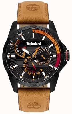 Timberland | zegarek męski Oakham | brązowy skórzany pasek | czarna tarcza | 15641JSB/02