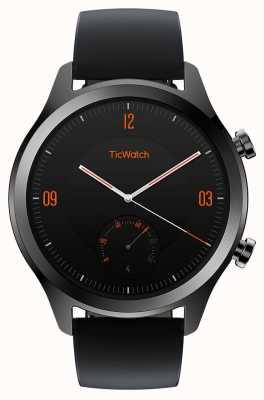 TicWatch C2 | onyksowy smartwatch | czarny skórzany pasek 130688-WG12036-ONYX
