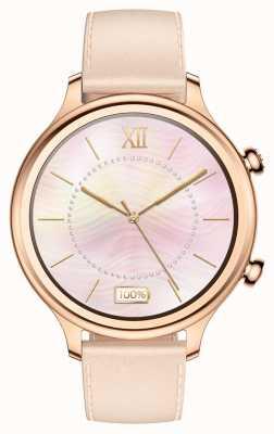 TicWatch C2 | smartwatch z różowego złota | skórzany pasek 131584-WG12056-RG