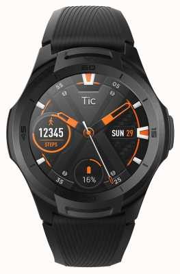 TicWatch | s2 | smartwatch o północy | czarny silikonowy pasek 131585-WG12016-BLK
