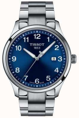 Tissot | męskie xl | niebieska tarcza | bransoleta ze stali nierdzewnej | T1164101104700
