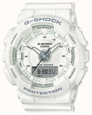 Casio | żywica damska g-shock | biały pasek | GMA-S130-7AER