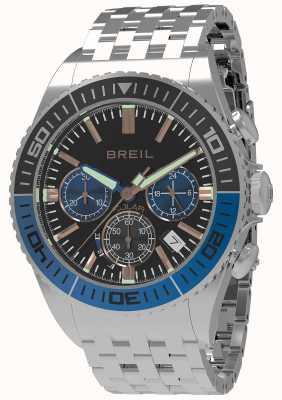 Breil | mens manta 1970 solar | czarna tarcza | czarny / niebieski bezel | TW1820
