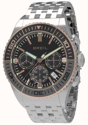 Breil | mens manta 1970 solar | czarna tarcza | szara / czarna ramka | TW1821