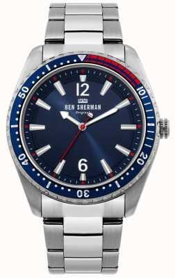 Ben Sherman | zegarek męski ronnie diver | niebieska tarcza słoneczna | WB037USM