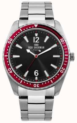 Ben Sherman | zegarek męski ronnie diver | czarna tarcza słoneczna | WB037ESM