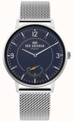 Ben Sherman | dziedzictwo portobello męskie | niebieska tarcza | srebrna siatka | WB034USM