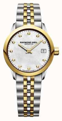 Raymond Weil Damska freelancer diamentowa dwukolorowa stal nierdzewna 5626-STP-97081