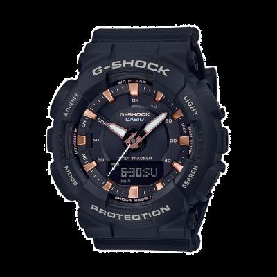 Casio G-shock krokowy czarny pasek z żywicy GMA-S130PA-1AER
