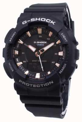 Casio Czarny pasek z żywicy do śledzenia kroków G-Shock GMA-S130PA-1AER