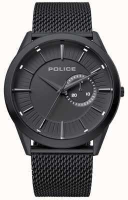 Police | torba męska | czarny pasek z siatki | czarna tarcza | 15919JSB/02MM