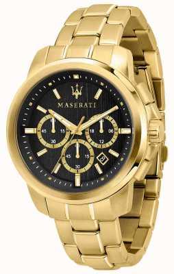 Maserati Pozłacany męski zegarek Successo R8873621013