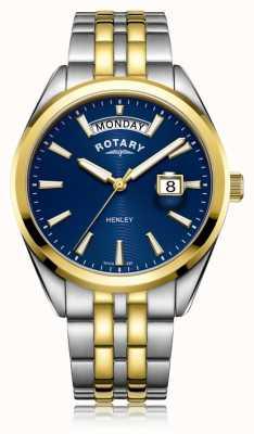 Rotary | mężczyzna henley | niebieska tarcza | bransoleta ze stali nierdzewnej | GB05291/05