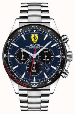 Scuderia Ferrari | męski pilota | bransoleta ze stali nierdzewnej | niebieska tarcza | 0830598