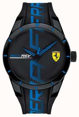 Scuderia Ferrari | redrev męski | czarny pasek silikonowy | czarna tarcza | 0830616