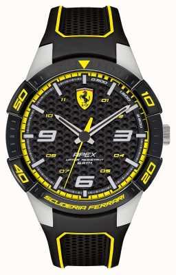 Scuderia Ferrari | wierzchołek męski | czarny pasek z gumy | czarna / żółta tarcza | 0830631