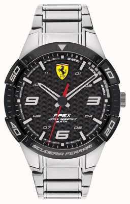 Scuderia Ferrari | wierzchołek męski | bransoleta ze stali nierdzewnej | czarna tarcza | 0830641