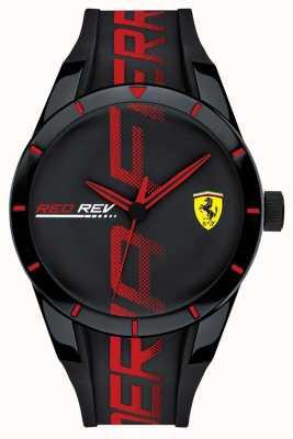 Scuderia Ferrari | redrev męski | czarny / czerwony pasek silikonowy | czarna tarcza | 0830614