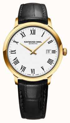 Raymond Weil | męskie toccata | klasyczna złota pvd biała tarcza | 5485-PC-00300