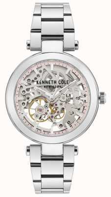 Kenneth Cole   kobiety automatyczne   bransoleta ze stali nierdzewnej   srebrna tarcza KC50799001