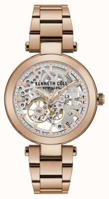 Kenneth Cole | kobiety automatyczne | bransoletka z różowego złota | tarcza z różowego złota | KC50799002