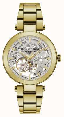 Kenneth Cole | kobiety automatyczne | żółto-złota bransoletka srebrna tarcza | KC50799003