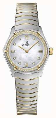 EBEL Damski sportowy klasyk 53 diamenty 18-karatowe żółte złoto 1216412A