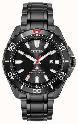 Citizen Promaster dla nurków męskich eco-drive czarny, pokryty płytą DVD BN0195-54E