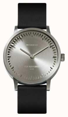 Leff Amsterdam | zegarek na tubę | t32 | stal | czarny skórzany pasek | LT74111