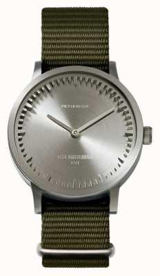 Leff Amsterdam | zegarek na tubę | t32 | stal | zielony pasek nato | LT74131