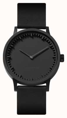 Leff Amsterdam | zegarek na tubę | t32 | czarny | czarny skórzany pasek | LT74212