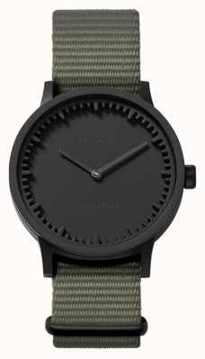 Leff Amsterdam | zegarek na tubę | t32 | czarny | szary pasek nato | LT74252