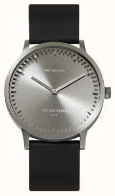 Leff Amsterdam | zegarek na tubę | t40 | stal | czarny skórzany pasek | LT75111
