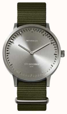 Leff Amsterdam | zegarek na tubę | t40 | stal | zielony pasek nato | LT75131