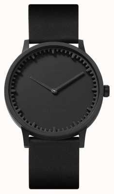 Leff Amsterdam | zegarek na tubę | t40 | czarny | czarny skórzany pasek | LT75212