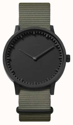 Leff Amsterdam | zegarek na tubę | t40 | czarny | szary pasek nato | LT75252
