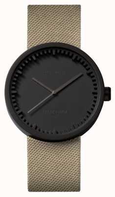 Leff Amsterdam | zegarek na tubę | d38 | czarny | pasek z piaskiem Coedura | LT71013