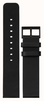 Leff Amsterdam   czarny skórzany pasek   czarna klamra   LT75012-STRAP